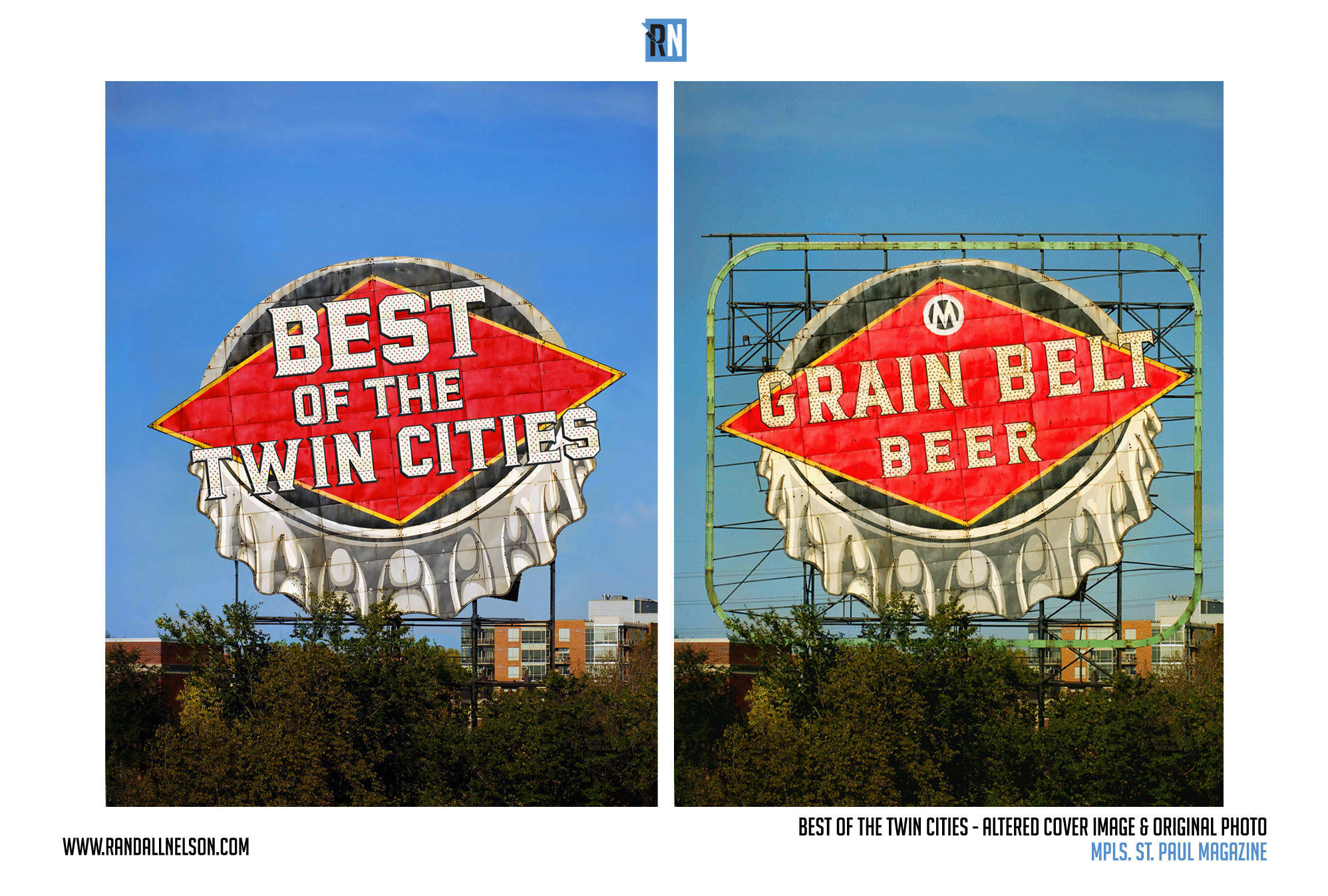 Mpls. St. Paul Magazine Best of the Twin Cities Grain Belt Sign